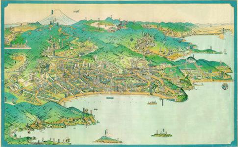 鳥諏図「1934年の熱海の地図」